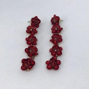 Jewelry - ❤️ Red Flower Earrings